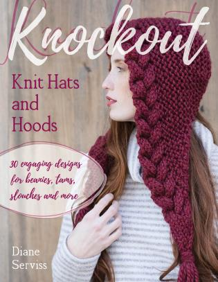 Cover image for the book Knockout Knit Hats and Hoods: 30 Engaging Designs for Beanies, Tams, Slouches, and More