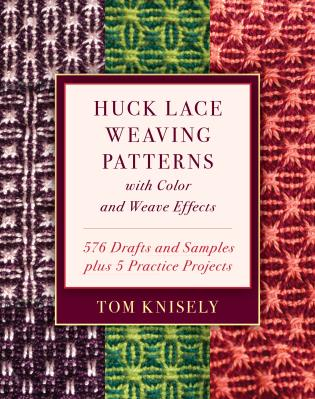 Cover image for the book Huck Lace Weaving Patterns with Color and Weave Effects: 576 Drafts and Samples plus 5 Practice Projects