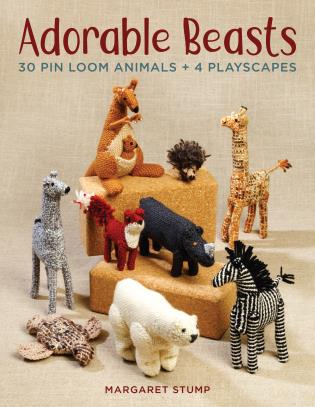 Cover image for the book Adorable Beasts: 30 Pin Loom Animals + 4 Playscapes