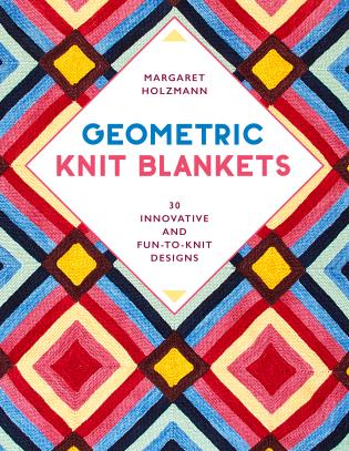 Cover image for the book Geometric Knit Blankets: 30 Innovative and Fun-to-Knit Designs