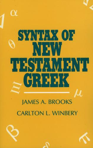 Cover image for the book Syntax of New Testament Greek