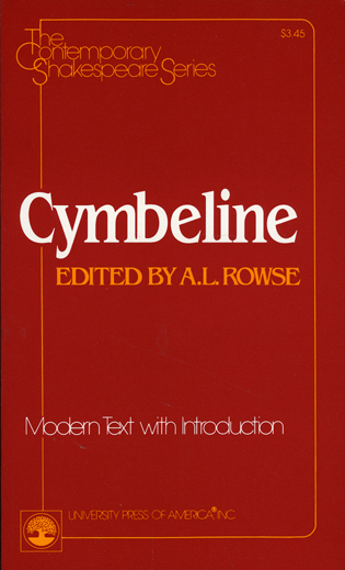 Cover image for the book Cymbeline