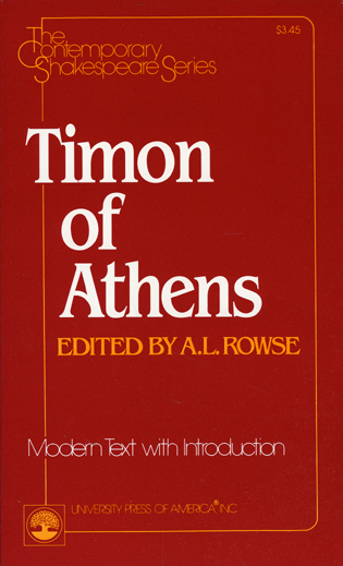 Cover image for the book Timon of Athens