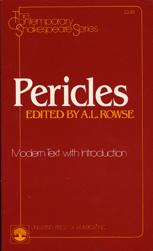 Cover image for the book Pericles