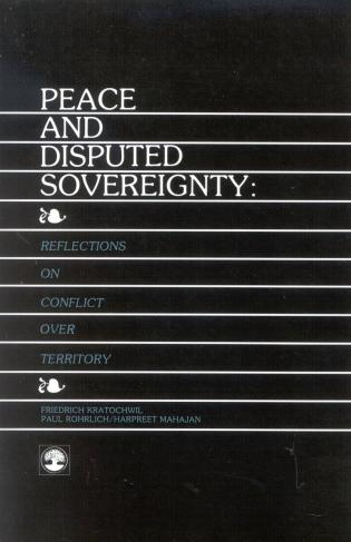 Cover image for the book Peace and Disputed Sovereignty