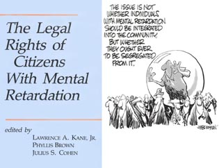 Cover image for the book The Legal Rights of Citizens with Mental Retardation