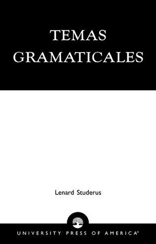 Cover image for the book Temas Gramaticales