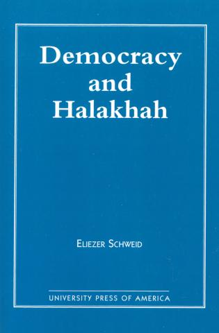 Cover image for the book Democracy and the Halakhah