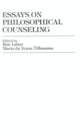 Cover image for the book Essays on Philosophical Counseling
