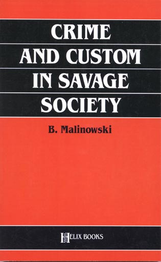 Cover image for the book Crime and Custom in Savage Society