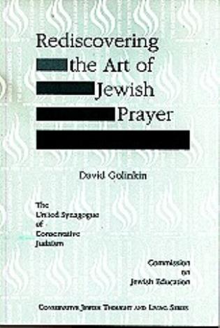 Cover image for the book Rediscovering the Art of Jewish Prayer