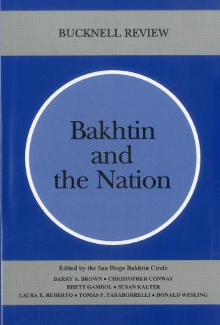 Cover image for the book Bakhtin And The Nation