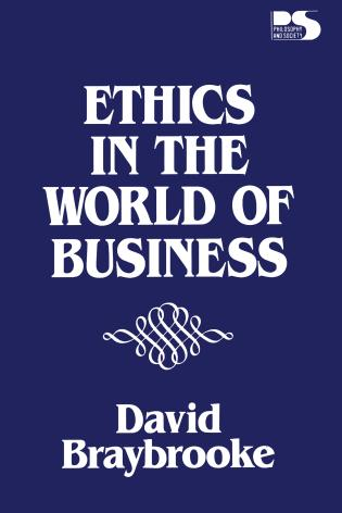 Cover image for the book Ethics in the World of Business