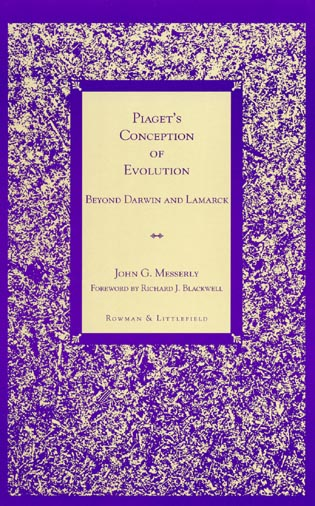 Cover image for the book Piaget's Conception of Evolution: Beyond Darwin and Lamarck