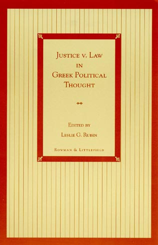 Cover image for the book Justice v. Law in Greek Political Thought
