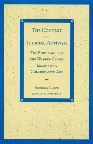 Cover image for the book The Context of Judicial Activism: The Endurance of the Warren Court Legacy in a Conservative Age