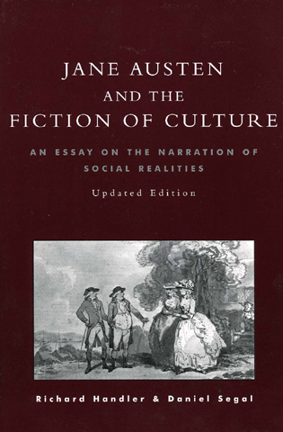 jane austen and the fiction of culture an essay on the narration  jane austen and the fiction of culture