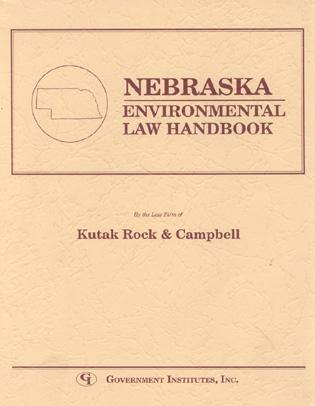 Cover image for the book Nebraska Environmental Law Handbook