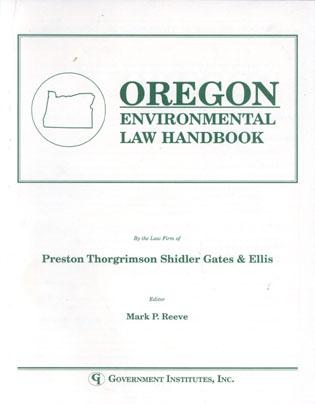 Cover image for the book Oregon Environmental Law Handbook
