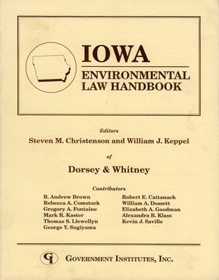 Cover image for the book Iowa Environmental Law Handbook