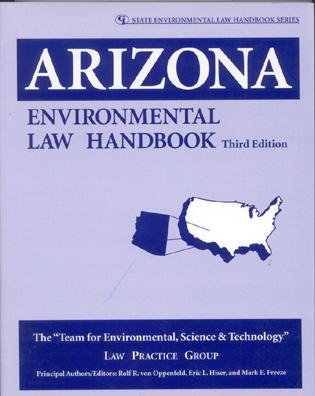 Cover image for the book Arizona Environmental Law Handbook, Third Edition