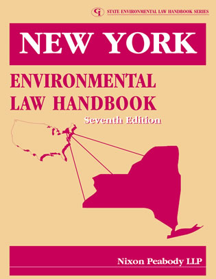 Cover image for the book New York Environmental Law Handbook, Seventh Edition