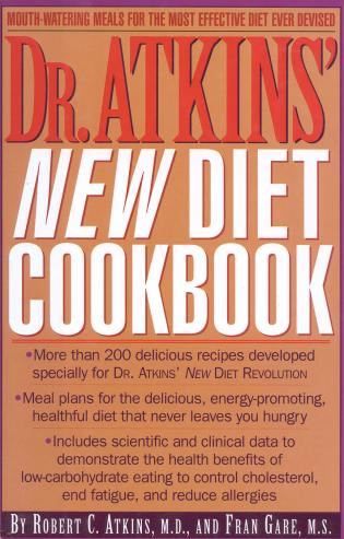Cover image for the book Dr. Atkins' New Diet Cookbook