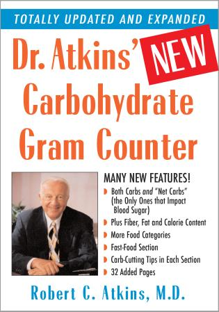 Cover image for the book Dr. Atkins' New Carbohydrate Gram Counter