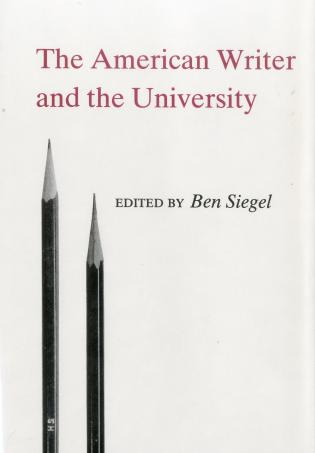 Cover image for the book American Writer And The University