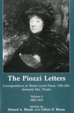 Cover image for the book The Piozzi Letters V4: Correspondence of Hester Lynch Piozzi, 1784-1821 (Formerly Mrs. Thrale) 1805-1810