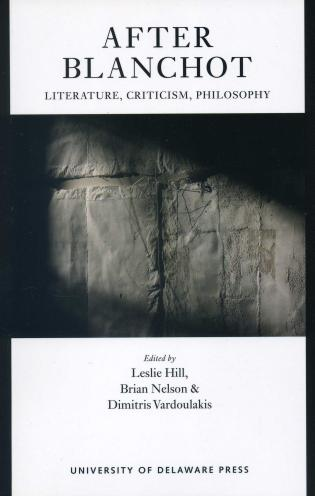 Cover image for the book After Blanchot: Literature, Criticism, Philosophy