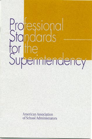Cover image for the book Professional Standards for the Superintendency