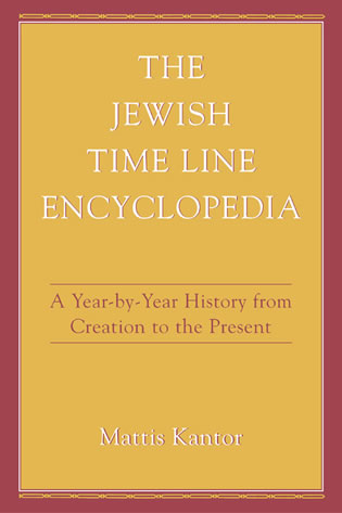 Cover image for the book The Jewish Time Line Encyclopedia: A Year-by-Year History From Creation to the Present