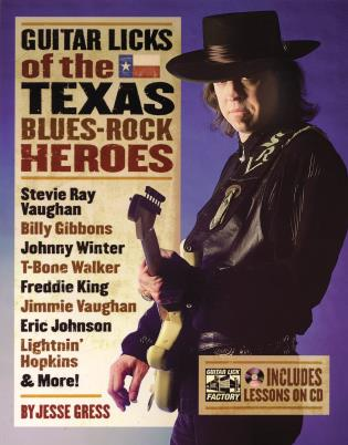 Cover image for the book Guitar Licks of the Texas Blues Rock Heroes