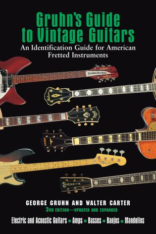 Cover image for the book Gruhn's Guide to Vintage Guitars, Third Edition