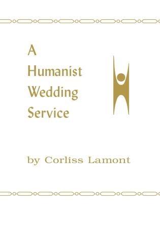Cover image for the book A Humanist Wedding Service