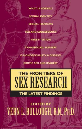 Cover image for the book The Frontiers of Sex Research