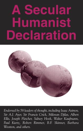 Cover image for the book A Secular Humanist Declaration