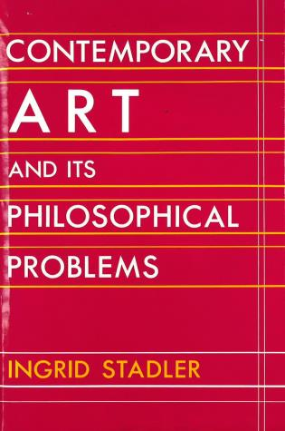 Cover image for the book Contemporary Art and Its Philosophical Problems
