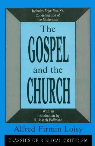 Cover image for the book The Gospel and the Church