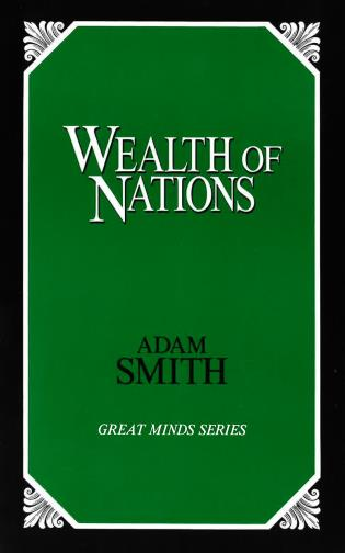 Cover image for the book Wealth of Nations