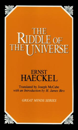 Cover image for the book The Riddle of the Universe
