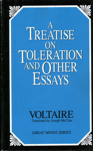 Cover image for the book A Treatise on Toleration and Other Essays