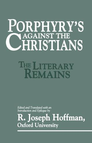 Cover image for the book Porphyry's Against the Christians