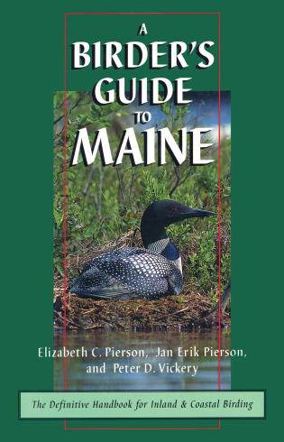 Cover image for the book A Birder's Guide to Maine