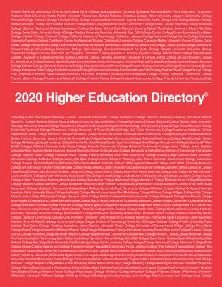 Cover image for the book Higher Education Directory 2020