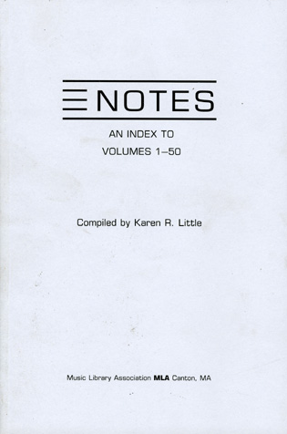 Cover image for the book Notes: An Index to Volumes 1-50