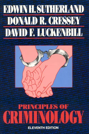 Cover image for the book Principles of Criminology, Eleventh
