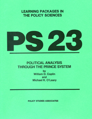 Cover image for the book PS 23 - Political Analysis through the Prince System