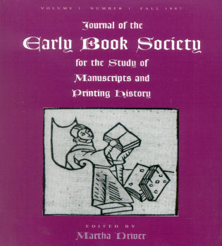 Cover image for the book Journal of the Early Book Society: For the Study of Manuscripts and Printing History